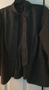 Plus size Gray military dress jacket